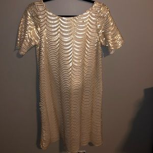 Beautiful Charlotte Russe Gold and White Dress